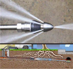 hydrojet coupe racines dans les égouts