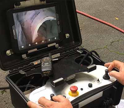 controle d'étanchéité des égouts avec caméra d'inspection vidéo